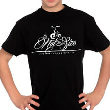 """MINI BMX KIDS T-SHIRT, """"IT'S NOT THE SIZE, ITS WHAT YOU DO WITH IT"""" (Venom)?"""