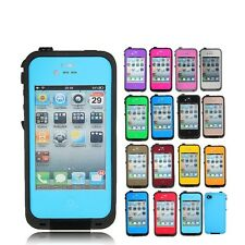 PC Waterproof Shockproof Dirt Snow Proof Hard Cover Case for Apple iPhone 4 4S