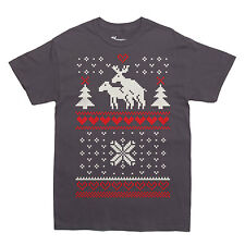 UGLY CHRISTMAS SWEATER KINKY MOOSE T-shirt sexy MEN'S SIZES S-XXL