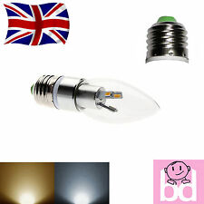 E27 SMD LED Candle Bulb 3W Energy Saving Efficient 30 Watt Output Chandelier ES