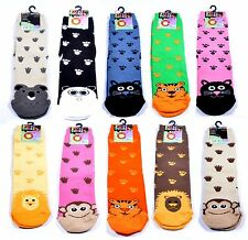 Boys Girls Childrens Cotton Rich Animal Socks 1/2/3 Pair Packs UK Size 3 - 5.5
