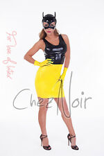 Chlorinated Latex Wrist Gloves - Unisex - Black Red Yellow Translucent - Rubber