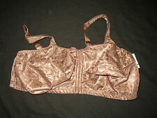 New womens Just My Size  Maple Leaf Brown  wire free Bra   44 D