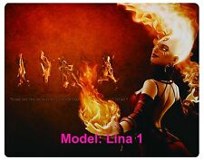 Custom, Mouse Pad, DOTA, Dota 2, WOW, Lina, 5 chose from. free shipping.