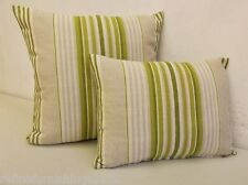 Laura Ashley Irving Stripe Olive Col Discontinued Designer Fabric Cushion Cover
