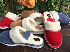 Lady Women Sheepskin Suede Leather Slippers Wool Shoes Size 3 4 5 6 7 8Flip-Flop