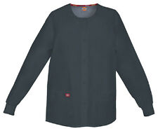Scrubs Dickies EDS Snap Front Warm-Up Jacket 86306 Pewter PTWZ  FREE SHIPPING!