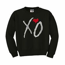 XO The Weeknd ovoxo Drake Thursday love hiphop music  heart Crewneck sweatshirt