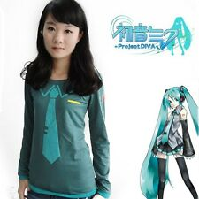 Vocaloid Hatsune Miku T Shirt Anime Cosplay Lady Long T-shirt Girls Wear V+ NEW