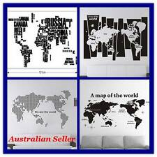Au Seller- Maga Size World Map New Designs Removable Wall Sticker Decal DIY