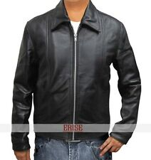 Hank Moody Real Black leather jacket for men