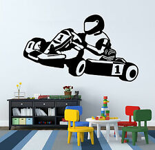 GO KART GO KARTING RACING vinyl wall art sticker decal