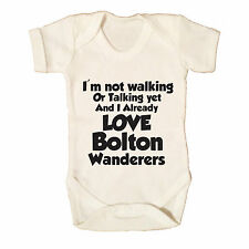 I LOVE BOLTON WANDERERS FUNNY BABY GROW - FOOTBALL BABYWEAR BLACKBURN RIVAL