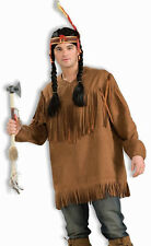 Native American Shirt Indian Brave Fancy Dress Halloween Adult Costume Accessory