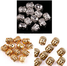 20Pcs Antique Silver/Gold/Bronze Buddha Spacer Beads 10x8mm