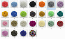 Free shipping! 25 colors 15g 1000pcs 2mm Lot Jewelry Czech glass seed beads MI