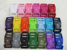 10,25 X 3/4'' (20mm) -Dog Collar Curved Plastic Buckles- Super Strong
