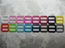 10,25 X 3/4'' (20mm) - Wide Mouth Triglides Webbing Slides -Multi colors