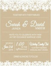 Wedding, Engagement, Bridal Shower Lace Party Invitations Personalized Custom