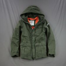 Hollister Mens Little Dume Parka Jacket Coat Military Olive by Abercrombie NWT!