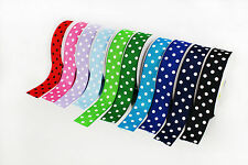 "Top Quality 1.5"" Polka Dot Grosgrain Ribbon Bow Supplies 3yards Multi-Color"