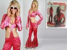 Fancy Dress Up Retro Disco Jumpsuit Costume Ladies 2 Sizes reduced to clear
