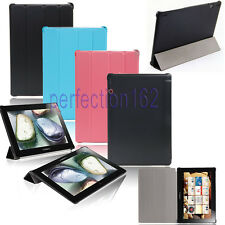 NEW Luxury Slim Folio Leather Case Cover For  Lenovo IdeaTab S6000 Tablet