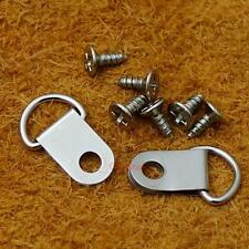 """20 50 19mm 3/4"""" Triangle D-Ring Picture Frame Hanger Screws Small Strap CT181F3"""