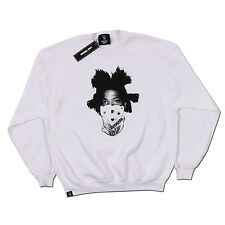 INVISIBLE BULLY Basquiat Legends Graphic SWEATSHIRT Crewneck WHITE