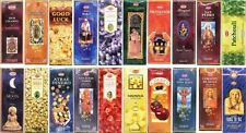HEM INCENSE - LARGE SELECTION - 120 Sticks Box - Six Hex Tube