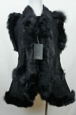 Long Women 100% Shearling Leather Sheepskin Long Haired Toscana Vest Fur M-5XL