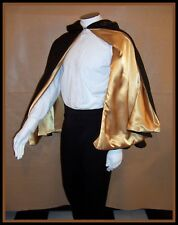 BATMAN & ROBIN CAPE Inspired by Arkham City Black & Gold Satin S to XL Cloak