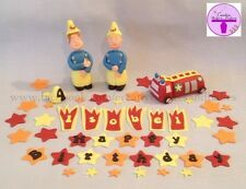 Fireman Sam Penny Elvis Jupiter Edible Fondant Sugar Birthday Cake Topper
