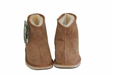 Australian Made Sheepskin Mini Ankle UGG Boots Men and Lady Chestnut Colour