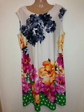 NEW FLORAL AND SPOT JERSEY DRESS, S-XL (SIZE 8-20)RRP £42