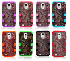 Camo Forest Branch Hybrid Silicone Case Skin Back Cover for Samsung Apple iPhone