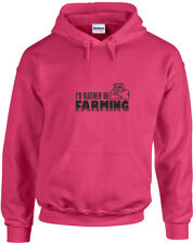 I'd Rather Be Farming, Farm inspired Printed Hoodie