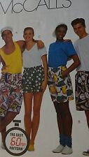 Sewing Pattern McCall's 8934 Misses Men's Teen EASY  Boxer Shorts 3 Lengths Elas