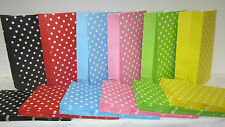 30 PolkaDot Lolly Candy Bags Party Favours Loot Lolly Party Bag - Candy Buffet