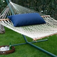 SOLID Sunbrella Outdoor Hammock Pillow 14x34 with zipper and cording