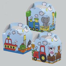 Childrens Kids Animal Parade Birthday Party Box Bag Loot Favour Carry Boxes Food