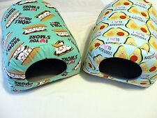 Custom made critter beds for guinea pig rat hedgehog  3 sizes FOOD PRINTS