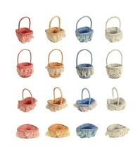Painted Wicker Basket With Lace Wedding Party Favors Decoration Easter 2pcs/pkg
