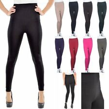 Seamless Sofra Cable Knit Fleece Leggings Stretchable Full Length Basic ONE SIZE