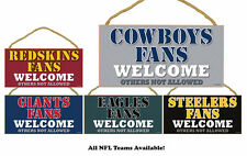 NFL NEW Fans Welcome! Wood Sign - CHOOSE YOUR TEAM
