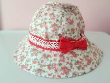 Girls kids Children Beach Travel Flower Cotton Bucket Sun Hat Cap 3-12yrs
