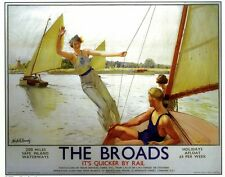 129 Vintage Railway Art Poster The Broads  *FREE POSTERS