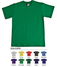 Twin Pack Unisex School T-Shirt Crew Neck 180 GSM Heavyweight Sports PE Casual
