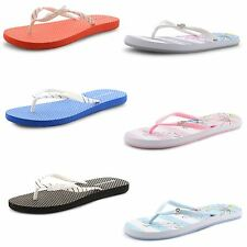 New Ladies Dunlop Polka Dot Thong Toe Post Beach Slip On Sandals Flip Flops UK