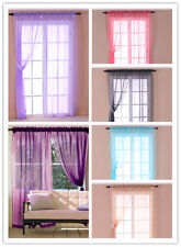 136X229cm 2pcs Sheer Curtains Net Organza Voile Fabric Window Pelmets Blinds
